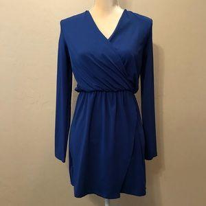 TOBI blue stretch knit tunic top